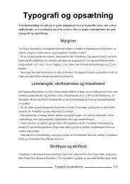 Tekst på tre sider