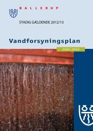 Vandforsyningsplan - Forsyning Ballerup