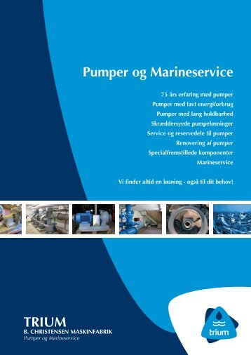 Download vores profilbrochure her - TRIUM / Pumper og ...