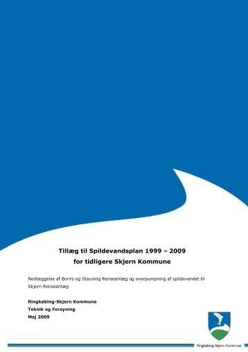Tillæg til Spildevandsplan 1999 – 2009 for tidligere Skjern Kommune
