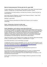 1 Referat af bestyrelsesmøde i FN-forbundet den 20. august 2009