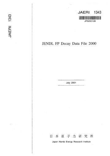 JAERI-1343