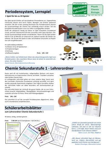 Chemie Lehrmittel