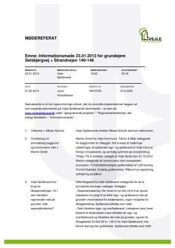 Referat fra informationsmøde den 23. januar - Vejle Spildevand