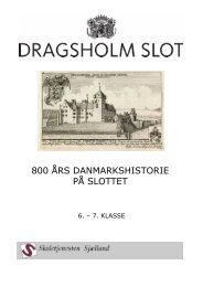 080709 800 ÅRS DANMARKSHISTORIE 6-7 kl u/bil - Dragsholm Slot