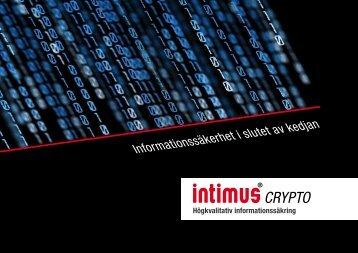 Informationssäkerhet i slutet av kedjan - Intimus