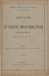 Beretning om Det Tekniske Undervisningsvæsen for Aaret 1894-95