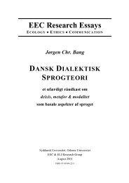 Dansk Dialektisk Sprogteori - Jørgen Chr. Bangs hjemmeside