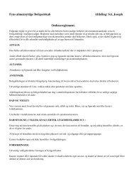 Sct. Joseph Ordensreglement. - Fyns almennyttige Boligselskab