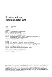 Dans for Voksne Katalog høsten 2011