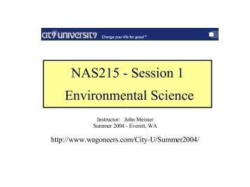 NAS215 Environmental Science - John Meister
