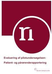 Evaluering af pilotundersøgelsen - Region Nordjylland