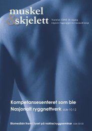 Muskel&Skjelett 3/2003 - Manuellterapi