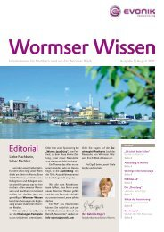Editorial - Evonik Industries AG