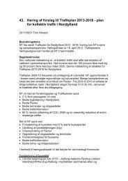 Høring af forslag til Trafikplan 2013-2016 - Jammerbugt Kommune