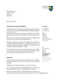 Dispensation - Foreningen for bevarelsen af naturen i trundholm mose