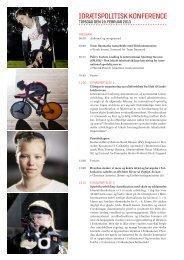 Program for Idrætspolitisk Konference 19. februar ... - Team Danmark