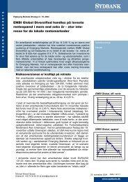 EMBI Global Diversified handles på laveste rentespænd ... - Sydinvest