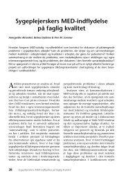 Sygeplejerskers MED-indflydelse på faglig kvalitet - Nyt om Arbejdsliv