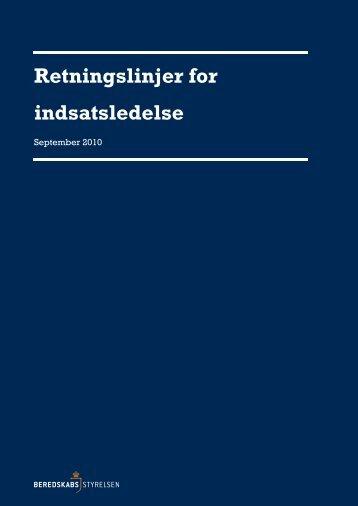 Retningslinjer for indsatsledelse, (2010) - Beredskabsstyrelsen