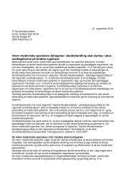 Intern medicinske specialers deltagelse i ... - Dagens Medicin