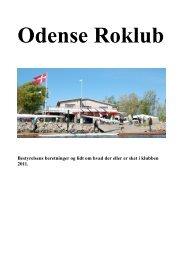 Bestyrelsens beretninger og lidt om hvad der eller ... - Odense Roklub