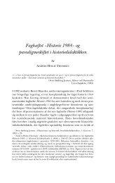 Faghæftet »Historie 1984« og paradigmeskiftet i ... - Historisk Tidsskrift