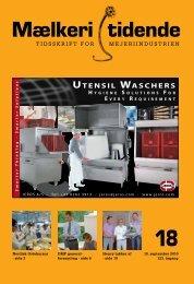 UTENSIL WASCHERS - Mælkeritidende