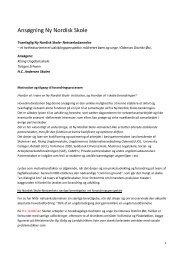 Ansøgning Ny Nordisk Skole - HC Andersen Skolen