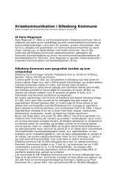 Krisekommunikation i Silkeborg Kommune - Af Hans Mogensen