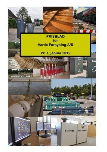 PRISBLAD for Varde Forsyning A/S Pr. 1. januar 2012
