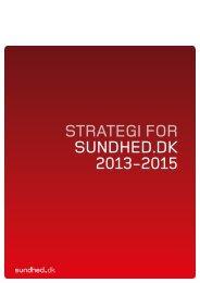STRATEGI FOR SUNDHED.DK 2013-2015