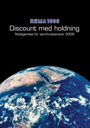 Discount med holdning - Rema 1000