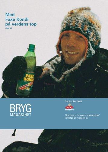 Brygmagasinet Sept 2003 - Royal Unibrew