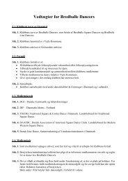 Vedtægter for Bredballe Dancers - Velkommen til Bredballe Dancers