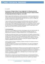 Kommentar til Digital Velfærd - Nye muligheder for ...