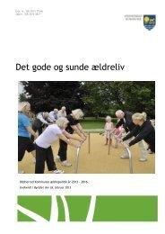 Det gode og sunde ældreliv - Odsherred Kommune