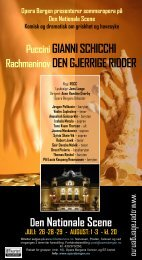 Opera Bergen presenterer sommeropera på Den Nationale Scene ...
