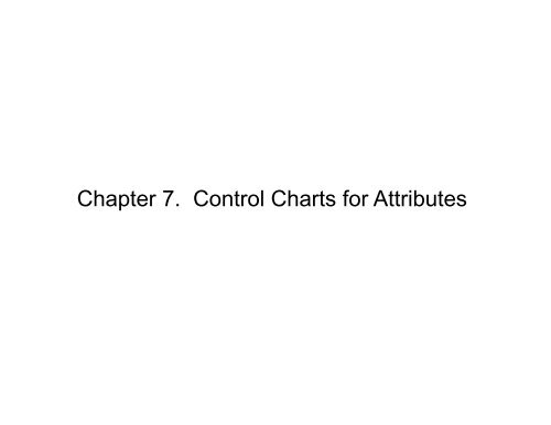 Chapter 7  Control Charts for Attributes
