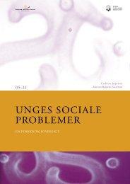 Unges sociale problemer - En forskningsoversigt - SFI