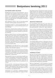 Læs bestyrelsens beretning 2011, klik her... - BKF