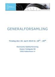 Bestyrelsens beretning - Danmarks Optikerforening
