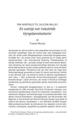 En oversigt over industrielle ... - Historisk Tidsskrift