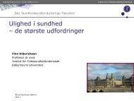 Ulighed i sundhed v/Finn Diderichsen (pdf 762 KB) - Aarhus.dk