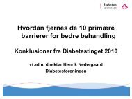 Konklusioner fra Diabetestinget 2010 - Danske Patienter