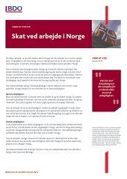Skat ved arbejde i Norge - BDO
