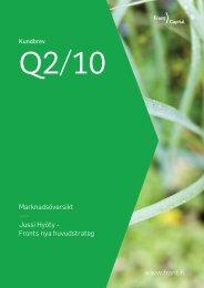 Marknadsöversikt Jussi Hyöty - Fronts nya ... - Front Capital Oy