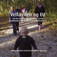 Velfærden og EU Velfærden og EU - Folkebevægelsen mod EU