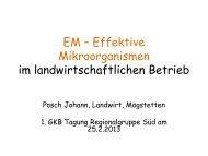Effektive Mikroorganismen im landwirtschaftlichen ... - bei der GKB eV