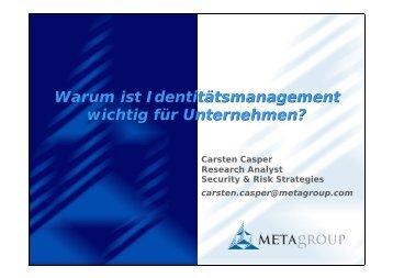 Warum ist Identity Management für Unternehmen ... - usp MarCom